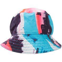 0c84aea204e Rochambeau Rochambeau X Aaron Curry Printed Bucket Hat (660 RON) ❤ liked on Polyvore  featuring men s fashion
