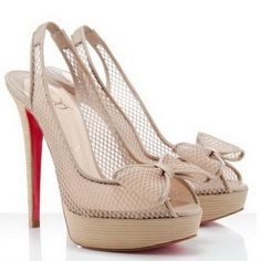 Christian Louboutin Exclu 140mm Slingbacks Beige  Email to a Friend  Be the first to review this product  Christian Louboutin Exclu 140mm Slingbacks Beige  Color: Beige Material: Fishnet Peep toe 5.5 inches(140mm) heel 1.5 inch(40mm) platform  Availability In stock $160.00