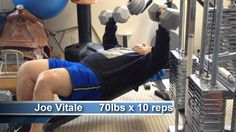 """Scott York challenged me to do 10 reps lifting 70 pound dumbbells. I was feeling ill, had just finished my intense lower body workout, was panting, was thinking about being in my 60s now, and didn't want to do it, especially on camera. But inspired by Bill Phillips and Maria Phillips and of course Steve Reeves International, I said """"Turn that camera ON!"""" See what happened... http://youtu.be/SbA768QGd-Y"""