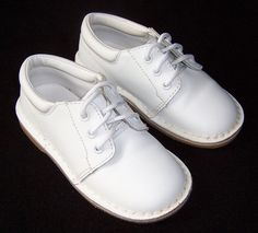 L'AMOUR Dressy White Lace Up Dress Shoes Toddler Boy Size 8 Easter #LAmour #DressShoes