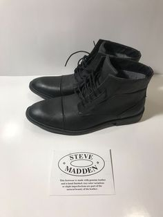 6dcb274cc10 Casual Shoes · Steve Madden Mens Quibb Chukka Boot Black Leather 9.5 M -  GREAT QUALITY  fashion