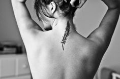 feather tattoo...thinking of doing this next for my Choctaw & Cherokee...hmmm