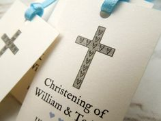 Christening Favour Tags - The Wedding Invite Company