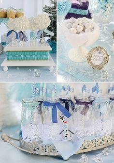 {! Sparkly, Snowy & Fantástico} Festa de aniversário congelado
