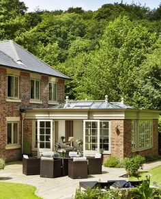 Modern orangery and wine store - Westbury Garden Rooms Kitchen Diner Extension, House Design, Garden Room, Orangery Extension Kitchen, Open Space Living, New Homes, Wine Store, Orangery, House Exterior