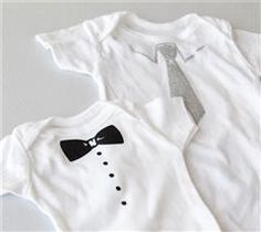Dress up your baby in this dapper bowtie sleeper!
