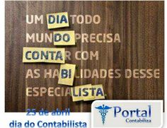 Portal Contabiliza: 25 de abril, dia do Contabilista
