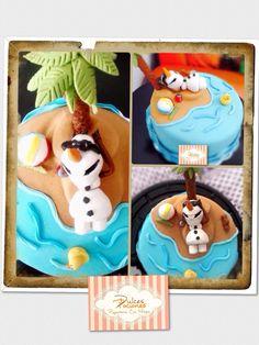 Frozen Fondant cake - pastel de frozen en Fondant