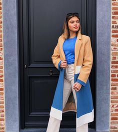 Mantel Beige, Must Haves, Duster Coat, Blazer, Jackets, Women, Fashion, Beige Coat, Blue And White