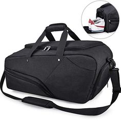 1b7add22f3f9 Gym Bag Sports Duffle Bag with Shoes Compartment Waterproof Large Travel  Duffel Bags Weekender Overnight Bag for Men Women 45L