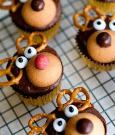 Baking these little Rudolph's and eating them after dinner with a cup of tea if we can find any room that is!