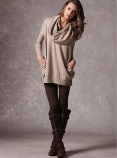 Fall look. love the soft unstructured sweater.