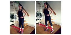 ▷ Workout mit dem Übungsband für Bauch, Beine & Po + Schultern Stretch Bands, Workout, Female, Training, Sport, Fitness Studio, Legs, Health, Advertising