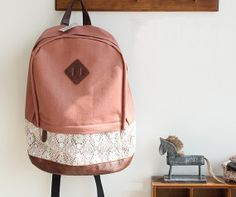 Fashionable backpack, backpack for middle school students, travel package,Computer bag,PU leather waterproof backpack, pig nose lace package...