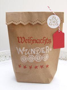 handbedruckte Geschenktüte I WEIHNACHTEN  von STAMPelART® auf DaWanda.com