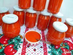 Aleda konyhája: Gulyáskrém Bottles And Jars, Hot Sauce Bottles, Eat Pray Love, Meals In A Jar, Grilling, Food And Drink, Tasty, Canning, Recipes