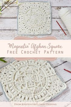 "Magnolia, A Free Lace Crochet ""Granny"" Square Pattern - Kirsten Holloway Designs"
