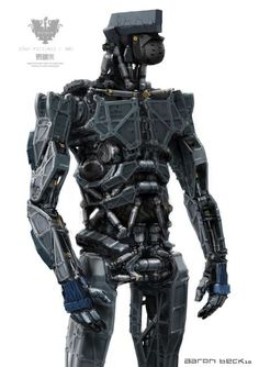 """Concept art of a robot from """"Elysium"""" Futuristic Art, Futuristic Technology, Futuristic Armour, Wearable Technology, Diesel Punk, Mexico 2018, Robot Costumes, Humanoid Robot, Robots Characters"""