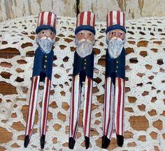 Uncle Sam Patriotic Americana Bowl Filler Primitive by raggedyjan, $12.00