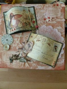 Paper Mache box - using Graphic45 Ladies Diary - just love all these papers