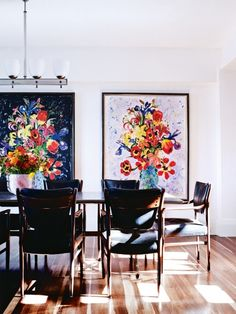 """House tour: a Sydney waterside home with interiors as unique as the view: """"The art is from London and we had several things in storage in Italy, where my daughter Lara and I picked up antiques and shipped them to Sydney,"""" adds Francesco. """"I feel that the art, architecture and furniture complement each other very well."""""""