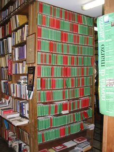 Here's the Loeb Classical Library collection at P. Tombolini and Co. in Rome. Loebs in Rome! (http://www.hup.harvard.edu/loeb)