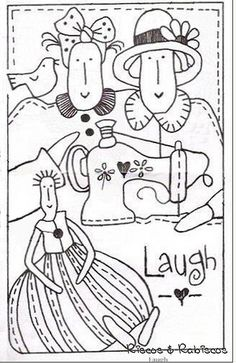 Laugh  #clip art #embroidery