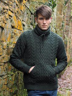 1bc983e1b6782b Cowl Neck Aran Sweater by Natallia Kulikouskaya for AranCrafts of Ireland