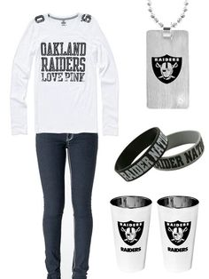 Raiders outfit, with cups (: