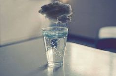 Spanish: una tormenta en un vaso de agua (a storm in a glass of water).- French: une tempete dans un verre d'eau.- English (american): a tempest in a teapot.- English (british): a storm in a teacup. Surrealism Photography, Art Photography, Surreal Art, Artsy, Cool Stuff, Illustration, Storms, Water Art, Water Glass