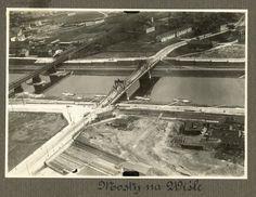 Mosty na Wiśle, lata 20 Most Powstańców Śląskich, w tamtym czasie nosił imię cesarza Franciszka Józefa.