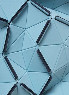 #OrigamiTriangleBlueTextile / FabricBouroullec  leManoosh