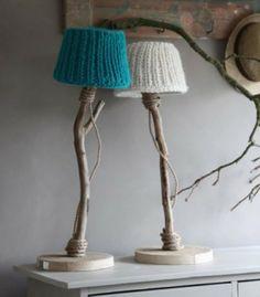 mooie, zelfgemaakte lampenkapjes. schattig!