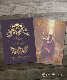 Royal Holiday  Christmas Card Template by frankandfrida