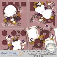 The Warm Smell of Autumn templatepack by Angelique's Scraps