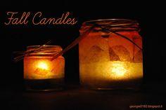 Let's make fall magic Autumn, candles, jar, diy, crafts