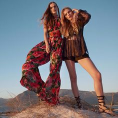 BLOOMING JOURNEY  #MirteMaas (on the left) photographed by #JemMitchell wears #Balmain Pre-Fall 2015 styled by #NatalieBrewster for #Netaporter