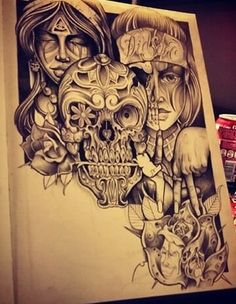 Chicano Arte on point Chicano Drawings, Chicano Tattoos, Chicano Art, Body Art Tattoos, Tattoo Drawings, Art Drawings, Mayan Symbols, Viking Symbols, Egyptian Symbols