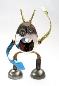 Oston - Found object assemblage robot sculpture by adopt-a-bot, via Flickr