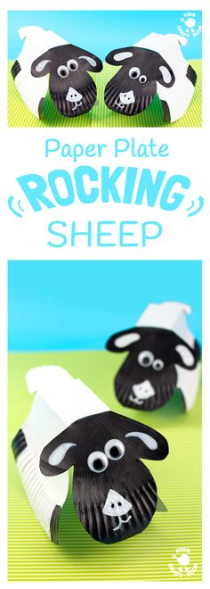 ROCKING PAPER PLATE SHEEP CRAFT - Here's a spring craft kids will love. This rocking sheep or lamb craft is easy to make and so much fun! The movement really brings this kids animal craft to life. This is a paper plate craft the kids will enjoy playing wi Paper Plate Crafts For Kids, Animal Crafts For Kids, Spring Crafts For Kids, Easy Crafts For Kids, Craft Activities For Kids, Animals For Kids, Preschool Crafts, Easter Crafts, Diy For Kids