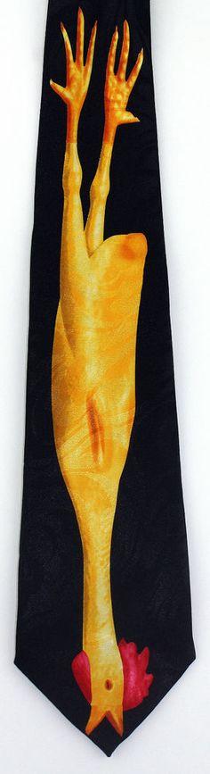 New Yellow Rubber Chicken Mens Necktie Farm Animal Bird Joke Novelty Neck Tie #StevenHarris #NeckTie