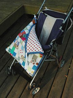 "Peek-a-Boo Bunting Tutorial - Clever way to make a ""pocket"" for baby's legs instead of blanket sliding off."