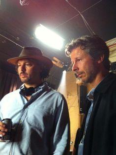 David Hayter and Canadian producer Steven Hoban on the set of Wolves