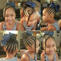 Cute Little Girl Braids! Cute Little Girl Braids! Childrens Hairstyles, Baby Girl Hairstyles, Natural Hairstyles For Kids, Kids Braided Hairstyles, Black Girls Hairstyles, African Hairstyles, Unique Hairstyles, Short Hairstyles, Little Girl Braid Hairstyles