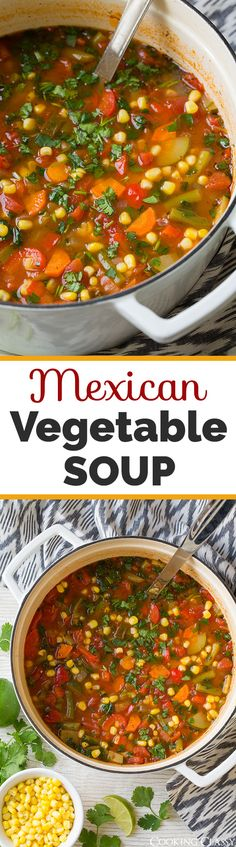 Mexican Vegetable Soup - delicious flavor and so good for you, win win!