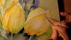 "Aquarell ""gelbe Tulpen"" Tutorial Teil 2"