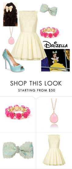 """Disney - Drizella"" by briony-jae ❤ liked on Polyvore featuring Irene Neuwirth, Anastasia, Topshop and Badgley Mischka"