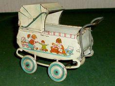 Alter Blechpuppenwagen Blechspielzeug Puppenwagen Kinderwagen Puppenstube Wagen