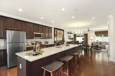Kitchen, Dining, & Living Room - Riverwalk at Harbour Pointe at Shorehaven