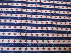 Red Stars on White Stripe/Blue Stripes  #62 by FloridaFriends on Etsy